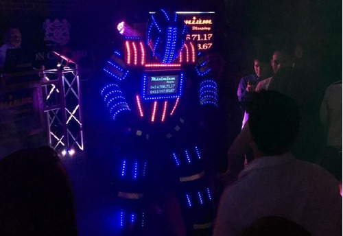 robot led dj sonido discplay miniteca decoracion luces led