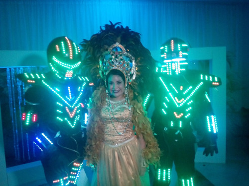 robot led fiesta infantil neon bodas 15 años hora loca