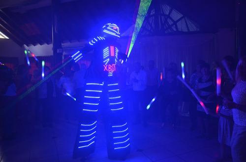robot led gigante con lasers ¡¡tenelo ya en tu cumple!!