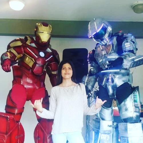 robot led iroman avengers fiestas alquiler muñecotes 2,50 mt