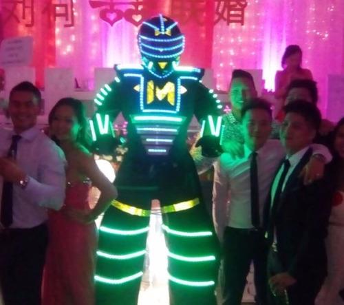 robot led máximium co2  discplay dj hora loca samba zanquero