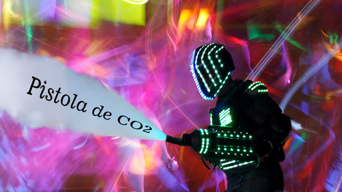 robot led, show