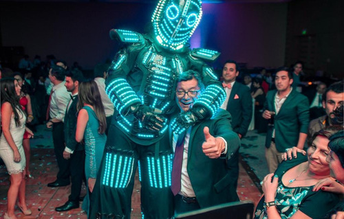 robot led show