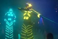 robot led show animacion