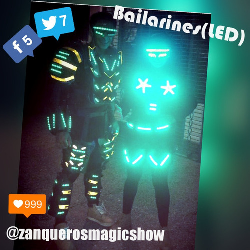 robot led, tequileros led, bailarines led, mimos y mucho más