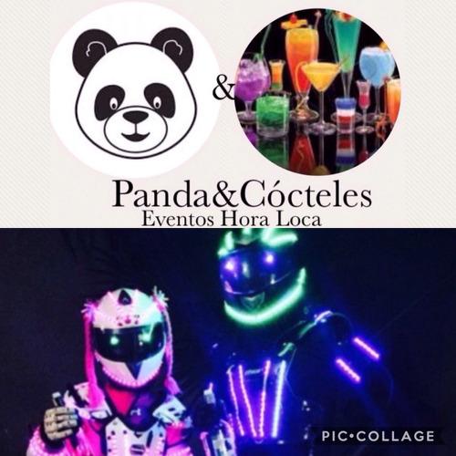 robot led valencia y panda cócteles hora loca.