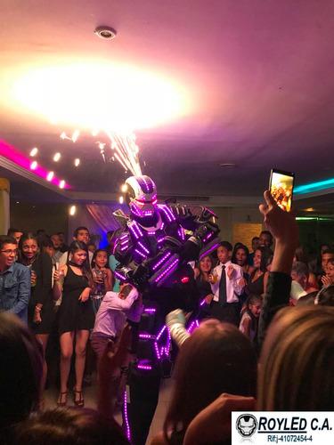 robot led zanqueros hora loca led bailarinas led