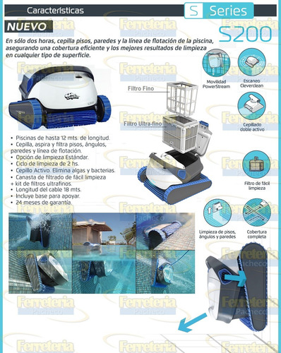 robot limpia piletas dolphin s200 cuotas envios todo pais