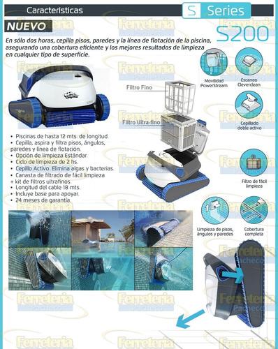 robot limpia piscinas dolphin s200 envio gratis todo el pais