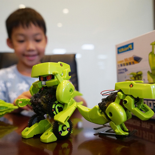 robot solar 4 en 1 dinobot armable robotica ciencia