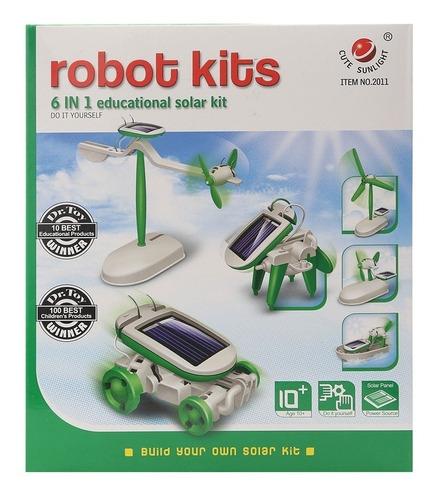 robot solar 6 en 1 ciencia  robotica no compatible con lego