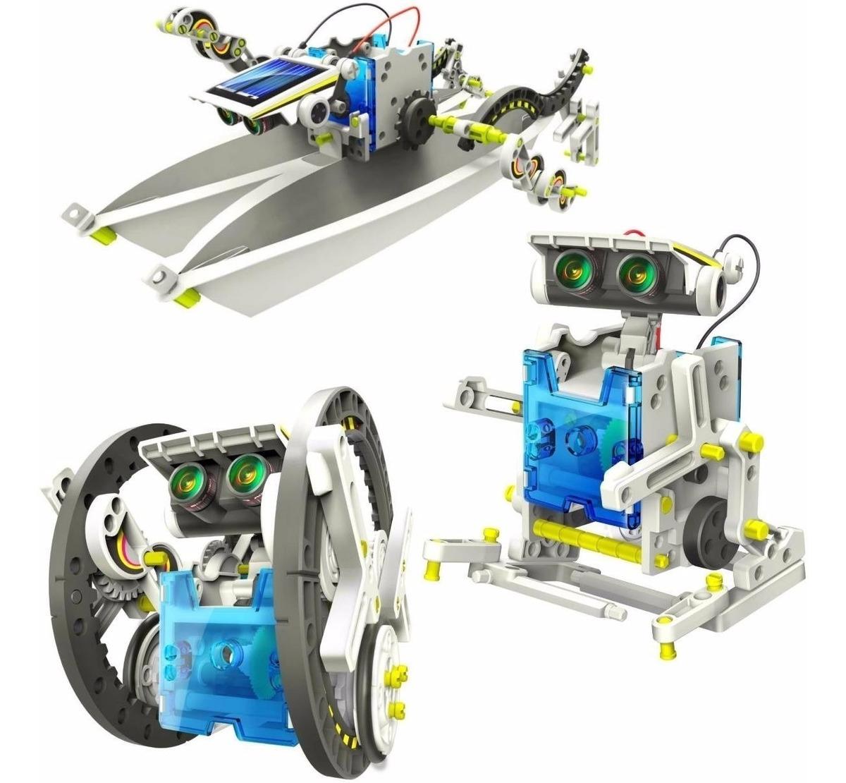 Robot Solar Kit 14 Dise 241 Os En 1 Armable Con Panel Solar