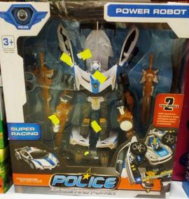 Transformers Niños Tipo Juguete Auto Policia Robot KuF1cTl3J