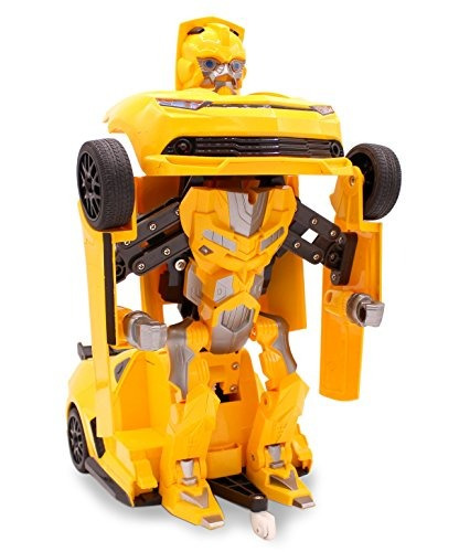 robot transformable + control remoto 27 mhz  rc toy; carro d