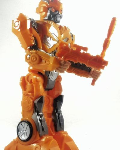 robot transformers optimus prime con movimiento y sonido