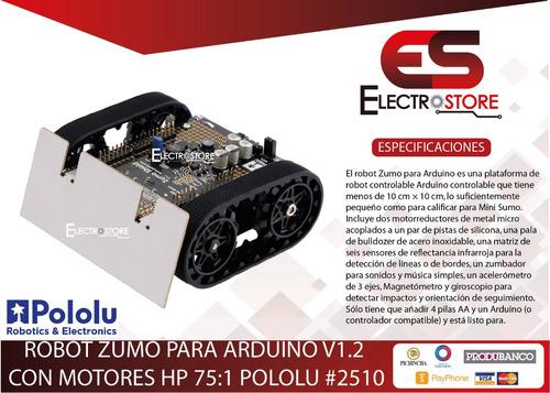 robot zumo arduino v1,2 (con 75:1 hp motores 6v) pololu