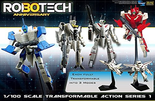 robotech figura roy fokker vf-1s transformable escala 1:100