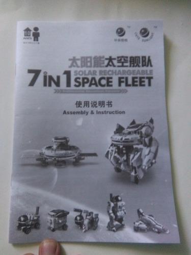 robotica solar 7 en 1 - flota espacial