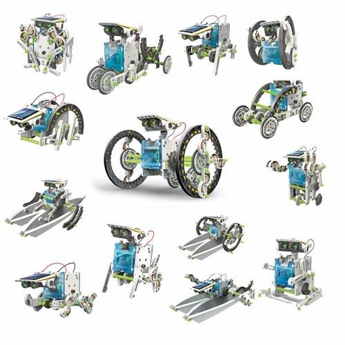 robotica solar kit 14 robot diferentes 210 pzas mi alegria