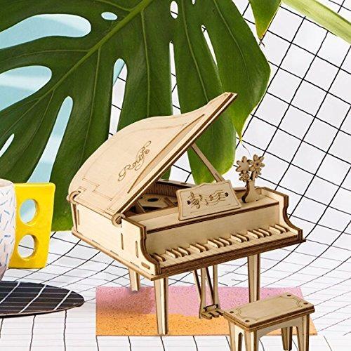 robotime 3d lasercut puzzle grand piano kits modelo diy arte
