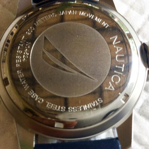 robusto relógio náutica,quartz, 45 mm. 200 m. à prova d'água