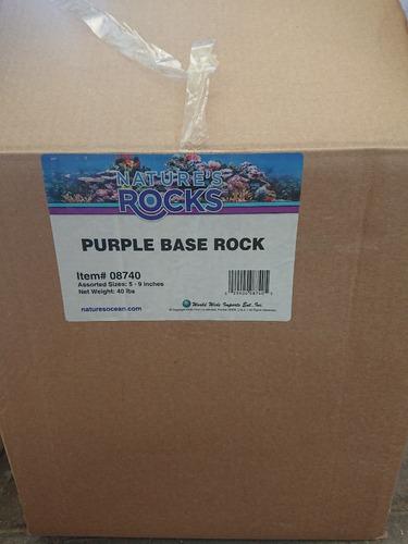 roca base morada - premium - para acuario  - nature's ocean