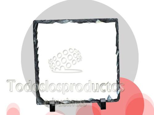 roca sublimar sublimacion 3d o plancha plana 20x20 con bases