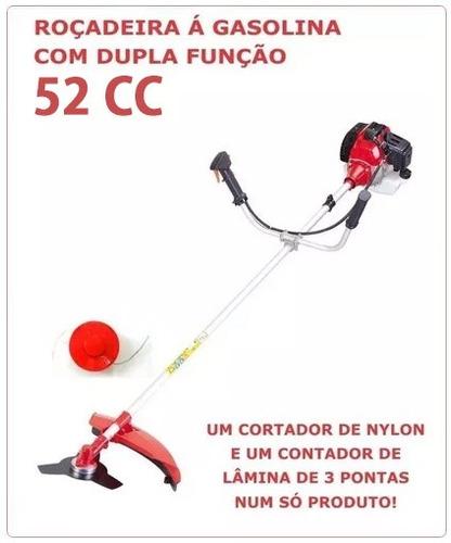 roçadeira corta grama a gasolina - 52cc - 1,8kw/6500-7000rpm