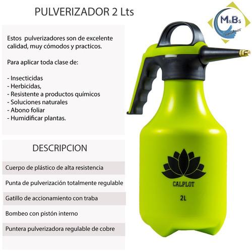 rociador pulverizador calplot fumigador 2 lts pico regulable