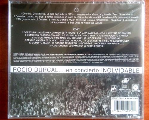 rocio durcal cd+dvd en concierto inolvidable original nuevo