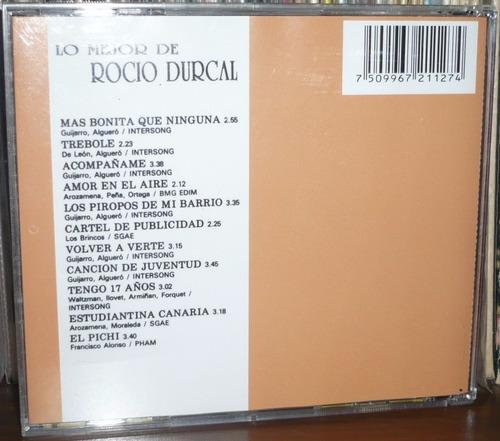 rocio durcal cd lo mejor de rocio durcal