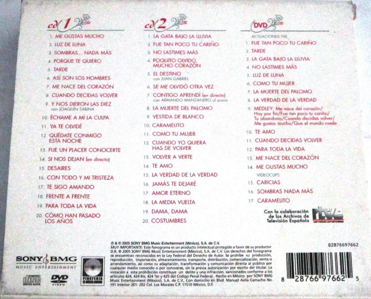 Rocio Durcal Me Gustas Mucho 2 Cds Dvd 24999 En Mercado Libre