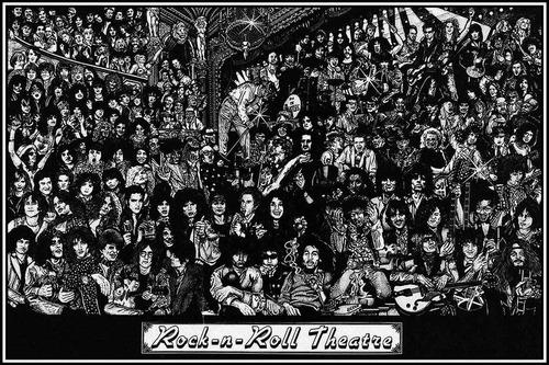 rock and roll theatre en tela canvas de 60x40 cm caba free