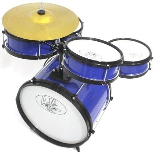 rock baby bateria infantil am2 azul