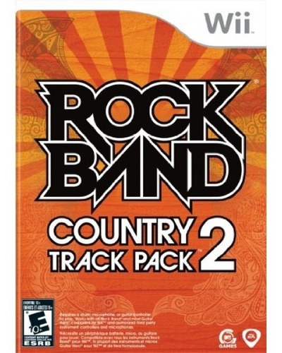 rock band country track pack 2 - nintendo wii