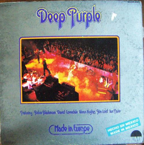 rock inter, deep purple, made in europe, lp 12´,