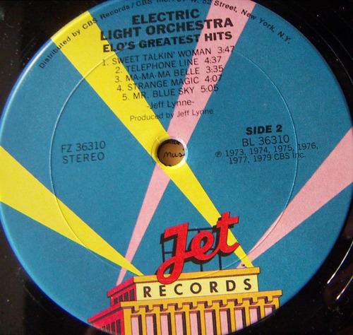 rock inter, elo´s greatest hits, electric, lp 12´, bfn