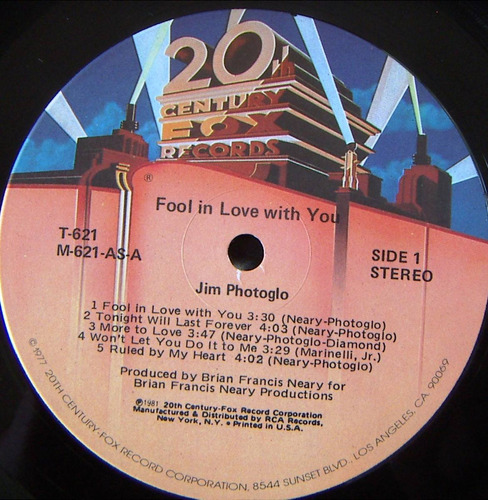 rock inter, jim photoglo, fool in love with you, lp 12´,