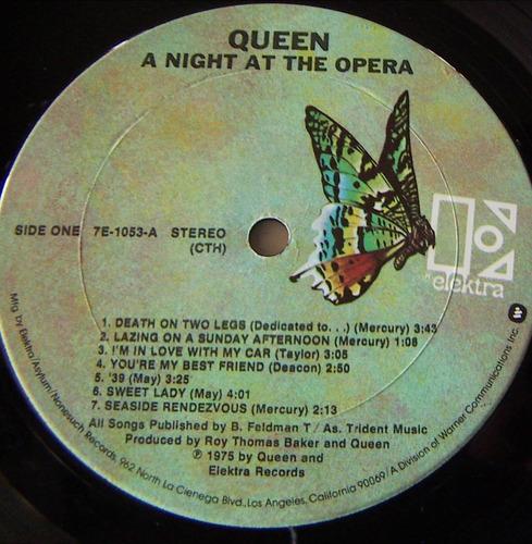 rock inter, queen, a night at the opera, lp 12´, u.s.a., mdn