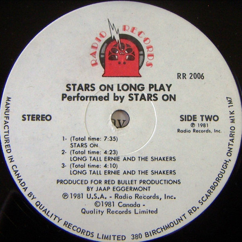 rock inter, stars on long play, lp 12´, hecho en canada