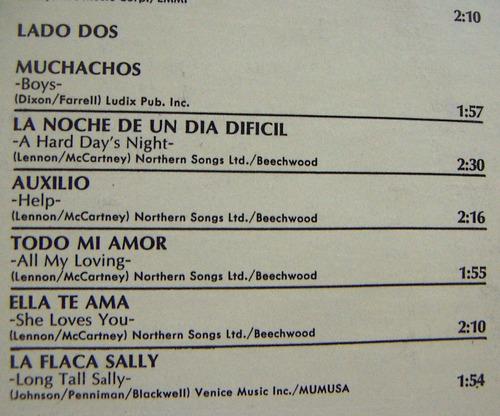 rock inter , the beatles,at the hollywood bowl lp12´,méxico