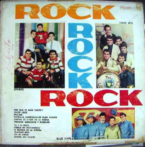 rock mex (varios)sparks, loud jets. rock, rock, rock, lp 12´