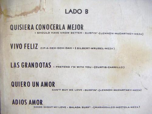 rock mexicano, los juniors, 1965, lp 12´,