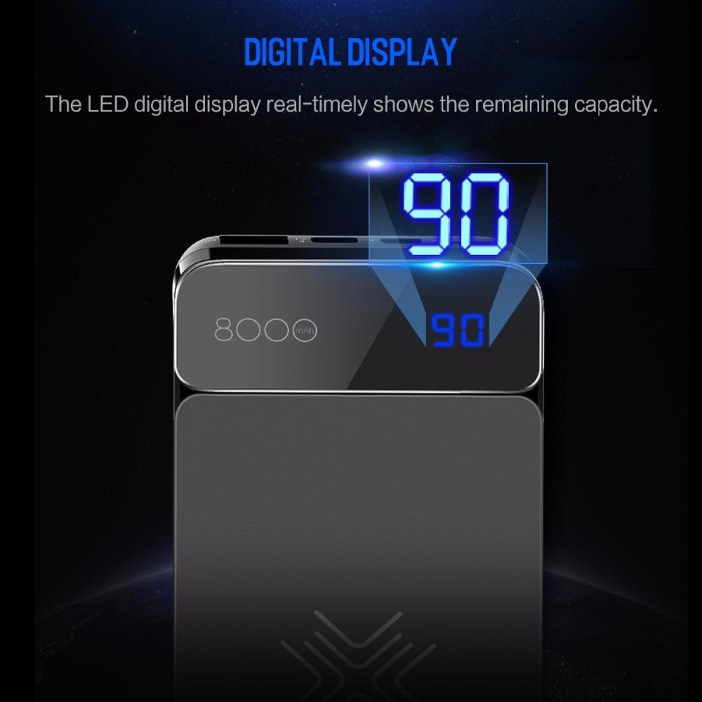 Resultado de imagem para Carregador S/ Fio Qi Wireless C/ Power Bank Rock 8000mah P38
