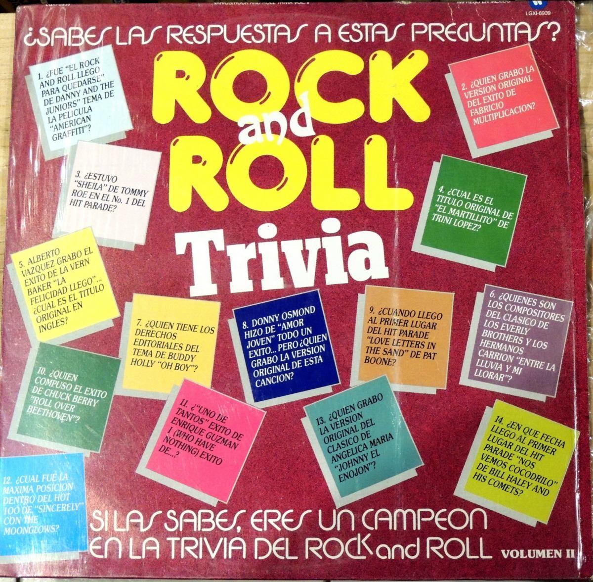 Rock Roll Trivia Vol Ii Vinyl 100 00 En Mercado Libre