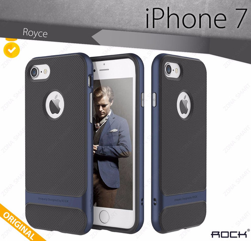 rock royce iphone 7 - case hybrid protector pc + tpu