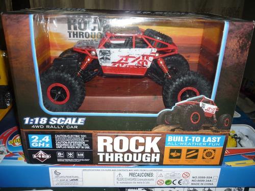 rock through carro a control remoto a escala 1:18 4wd rally