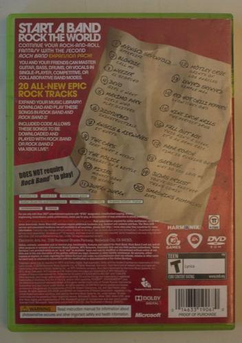 rockband track pack vol 2 xbox 360 envio gratis