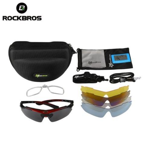 0b3a45ffbc9a5 óculos rockbros polarizado 5 lentes bike bicicleta ciclismo · óculos  rockbros ciclismo · rockbros ciclismo óculos