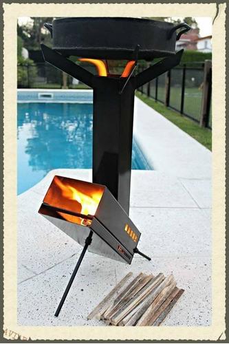 rocket. mechero / cocina a leña - metalúrgica  la huella